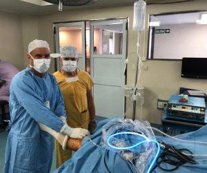Con mi padre en quirófano